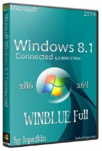 Microsoft Windows 8.1 Connected 6.3.9600.17024.WINBLUE Full (x86/x64 ENG/RUS/2014)