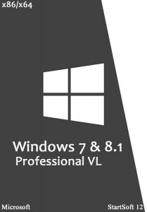 Windows 7 & 8.1 Professional VL x86/x64 StartSoft v.12 (2014/RUS)