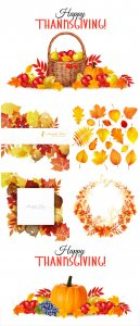 Happy thanksgiving background, autumn backgrounds vector