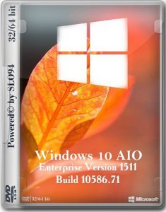 Windows 10 Enterprise AIO 2in1 (32/64 bit) v.02.02.16 (RUS/2016/by SLO94)